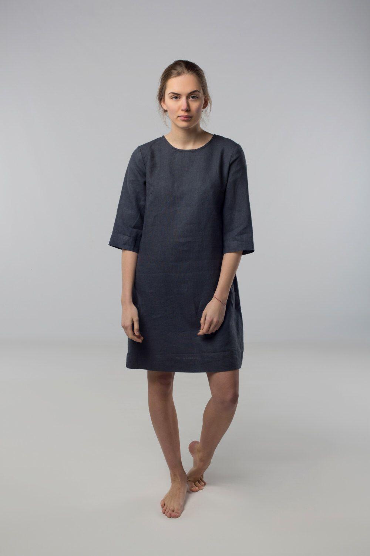f6484a7b541 Shift dress  Linen simple dress  Basic linen dress  Loose dress ...