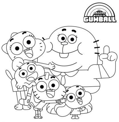 La Famille Watterson Coloriage Dessin Anime Coloriage Emoji Coloriage