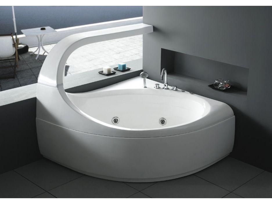 Baignoire Balneo D Angle Design Ellipse 2 Places 147 144 H115cm 300l 6 Hydrojets De Massage Controle Digital Baignoire Balneo Baignoire Baignoire Angle