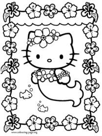 hello kitty coloring pages hello kitty and kitty