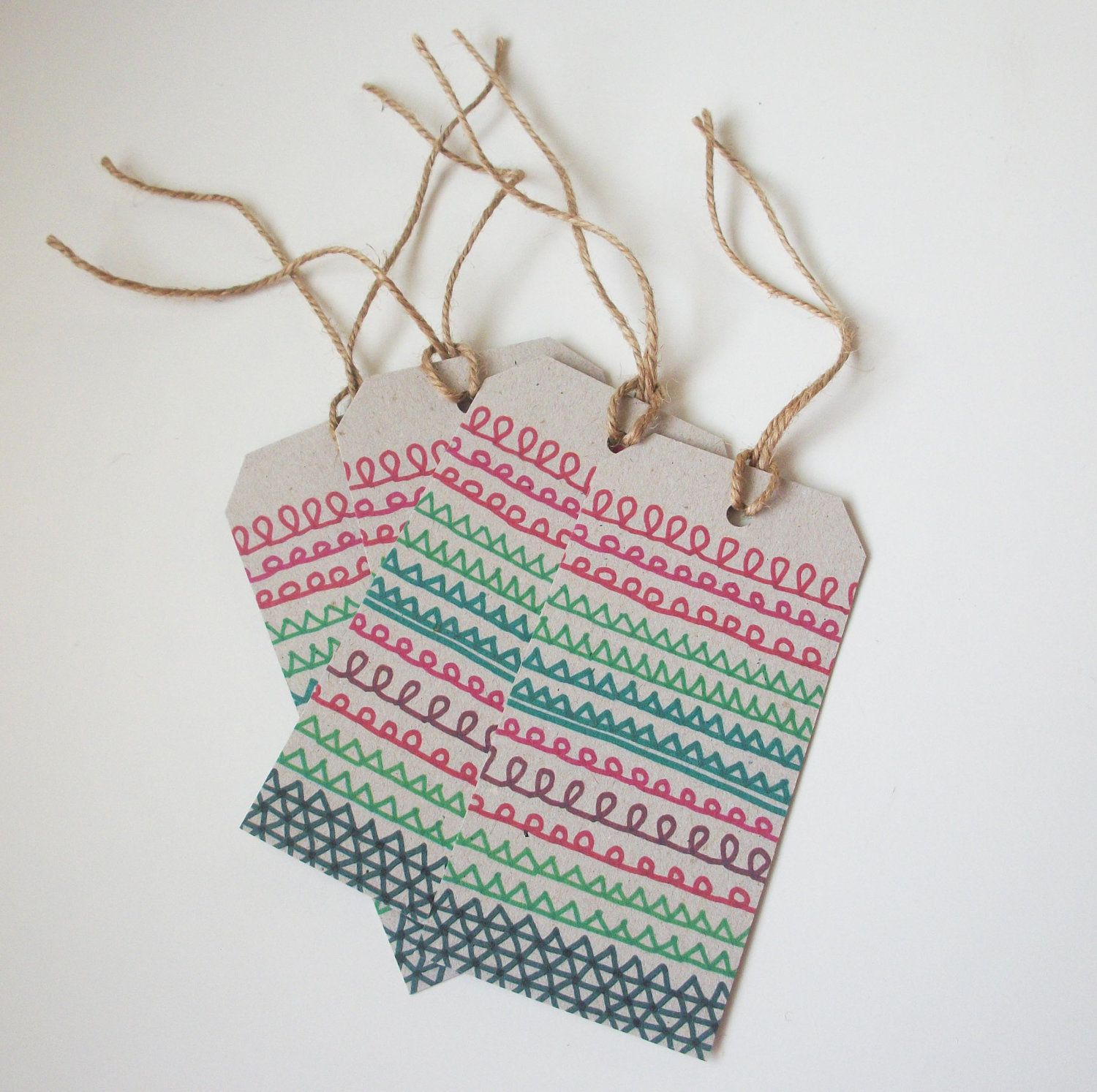 Home Made Modern Craft Of The Week 2 Rustic Christmas Stars: Christmas Gift Tags. Could Totes DIY These With Metallic