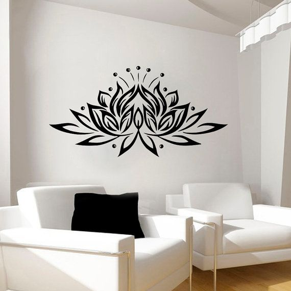 Wall Decals Flowers Decal Vinyl Sticker Bathroom Shower Kitchen ...