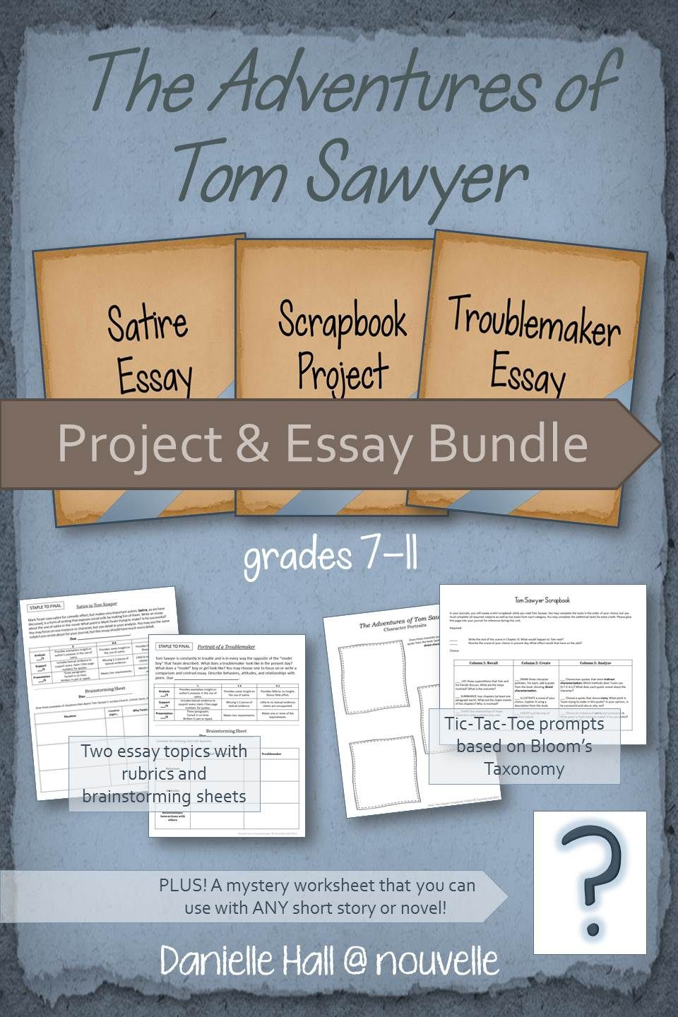 tom sawyer project and essay bundle satire the o jays and novels this bundle will help you teach the adventures of tom sawyer by mark twain it