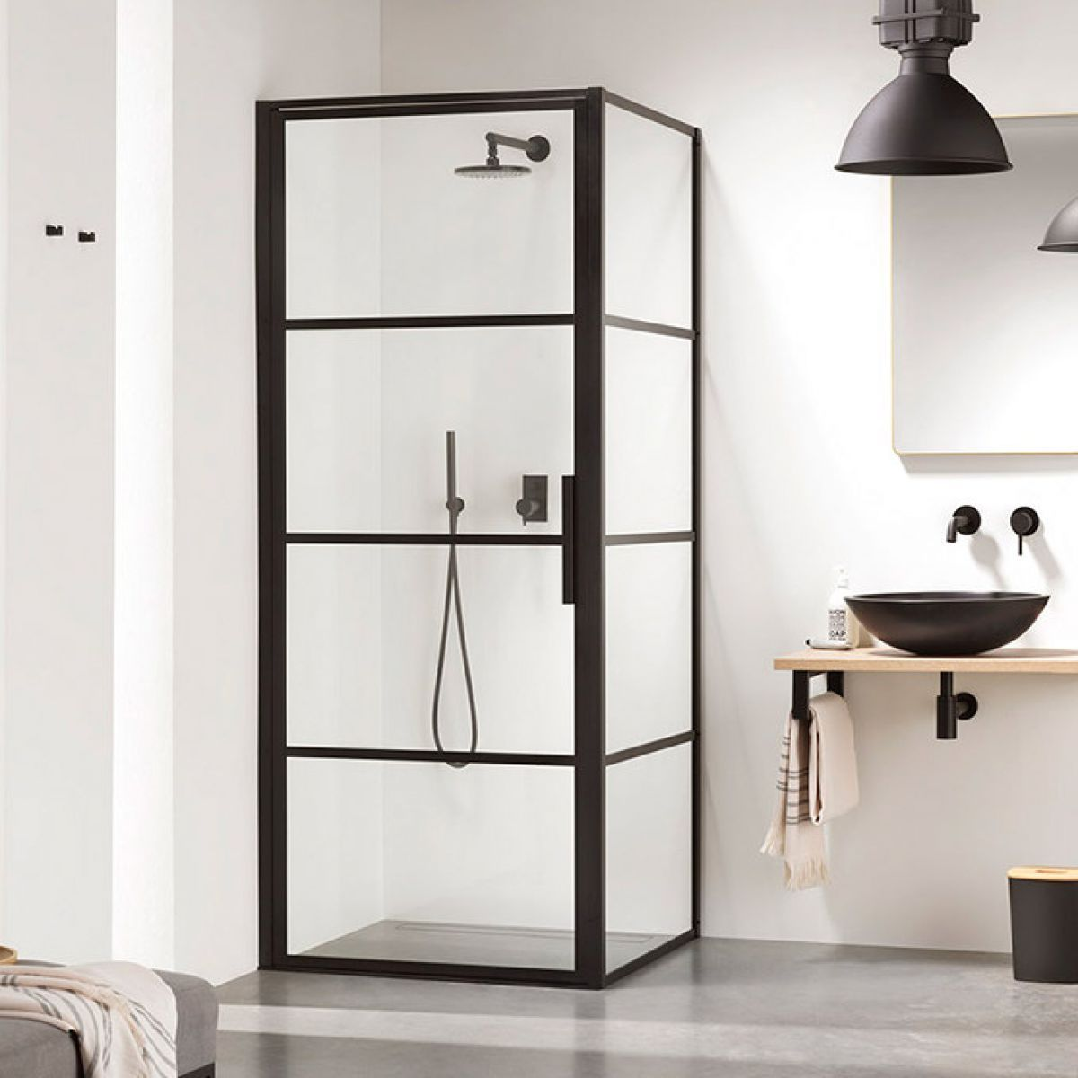 Impey Soho Pivot Door Black Shower Enclosure In 2020 Black Shower Doors Shower Doors Bathroom Trends