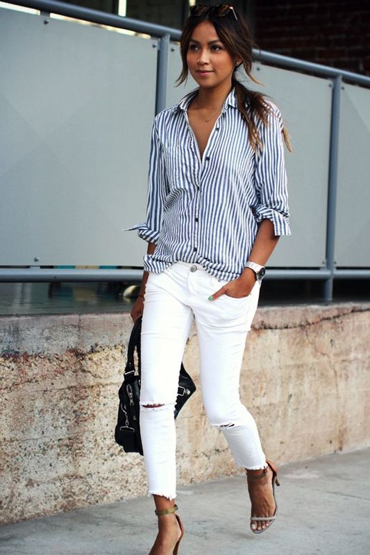 How to Wear Ripped White Jeans | my fav street styles ...