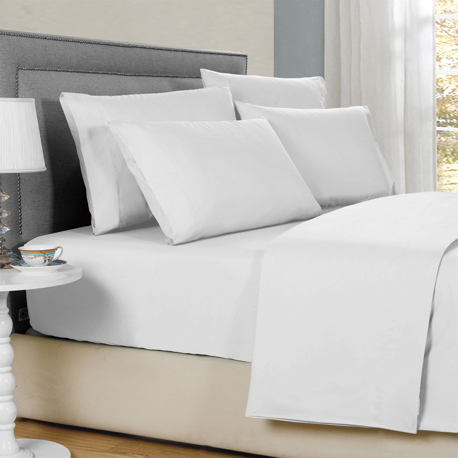 Bamboo 6 Pc Solid Sheet Sets 1800 Count Sheet Sets Home Bed