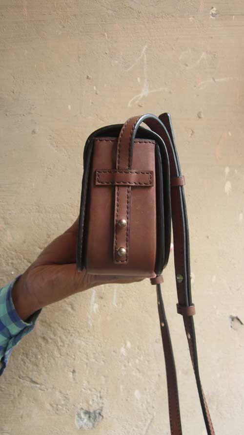 Caramel Little Stefanie, Chiaroscuro, India, Pure Leather, Handbag, Bag, Workshop Made, Leather, Bags, Handmade, Artisanal, Leather Work, Leather Workshop, Fashion, Women's Fashion, Women's Accessories, Accessories, Handcrafted, Made In India, Chiaroscuro Bags - 3