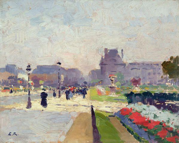 Avenue Paul Deroulede By Jules Ernest Renoux Art Paris Painting