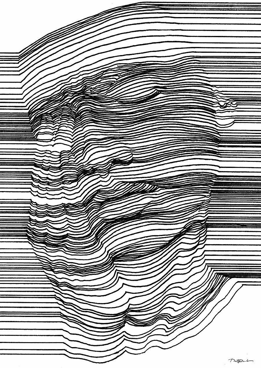 Optische Täuschung Mit 3d Effekt Durch Geschickte Linienführung