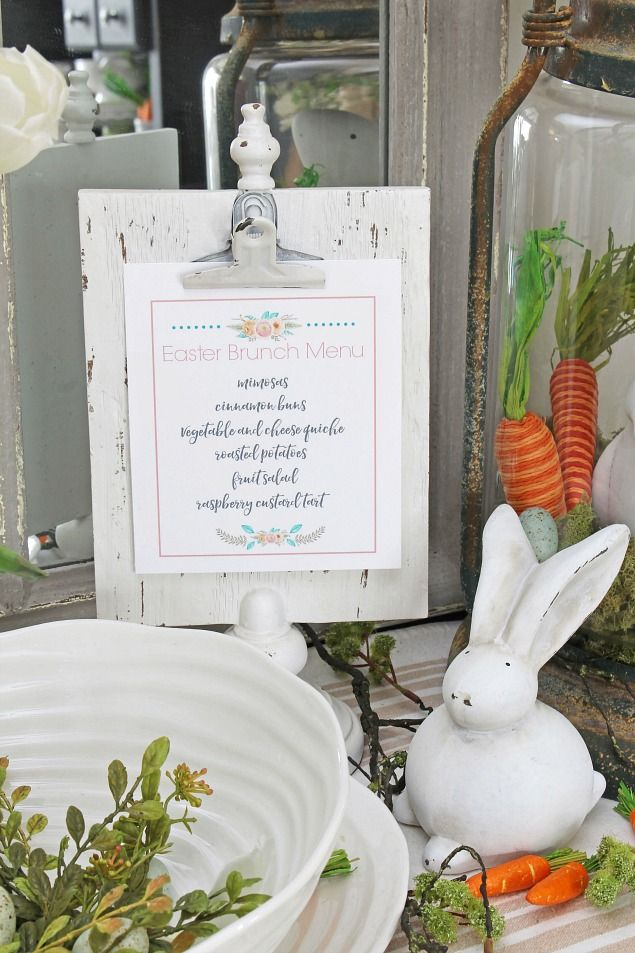 Easter Dining Room and Easter Tablescape Decorating Ideas | Easter ...