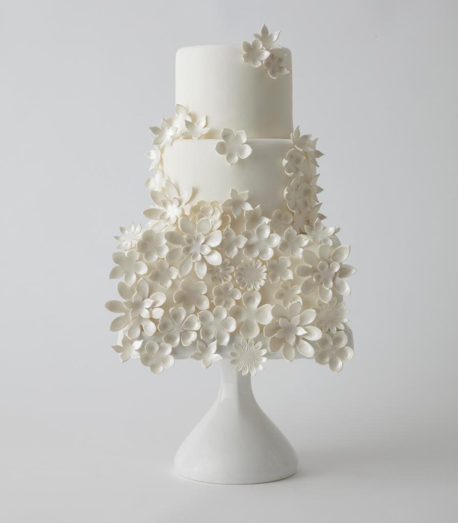 30 Enchanting Spring Wedding Cake Ideas White on White Pinterest