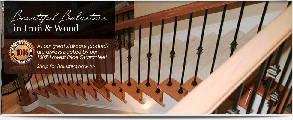 Stair Parts L Iron Balusters L Wood Stair Treads L Wrought Iron Railings L  Iron Stair