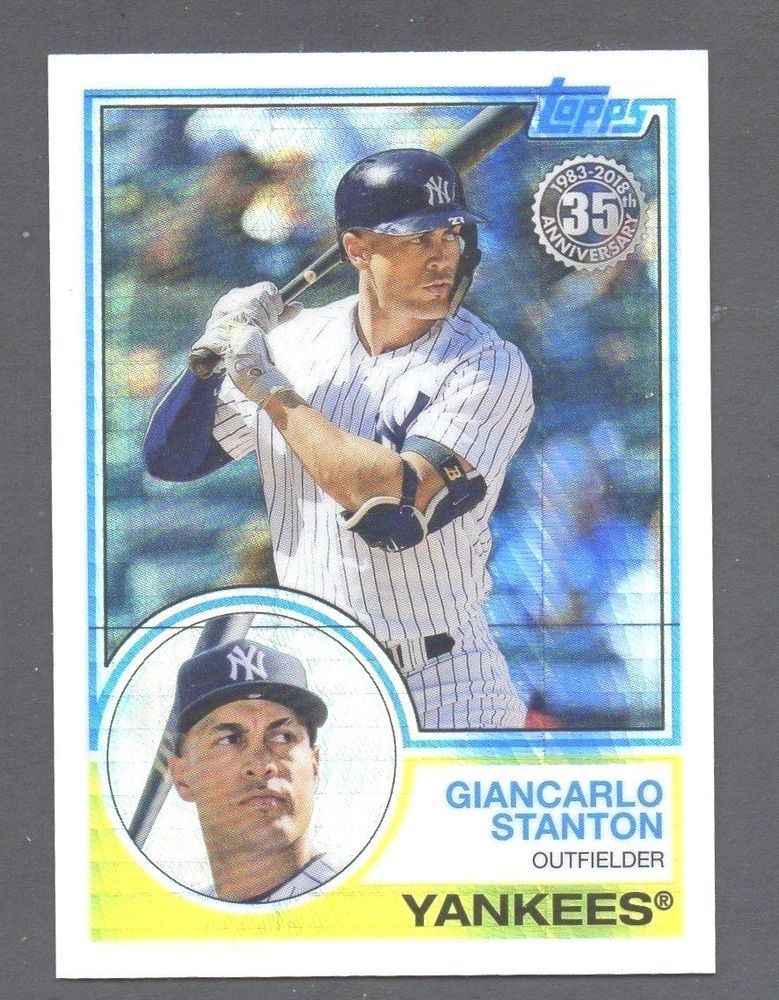 2018 topps update giancarlo stanton silver pack 125 mint