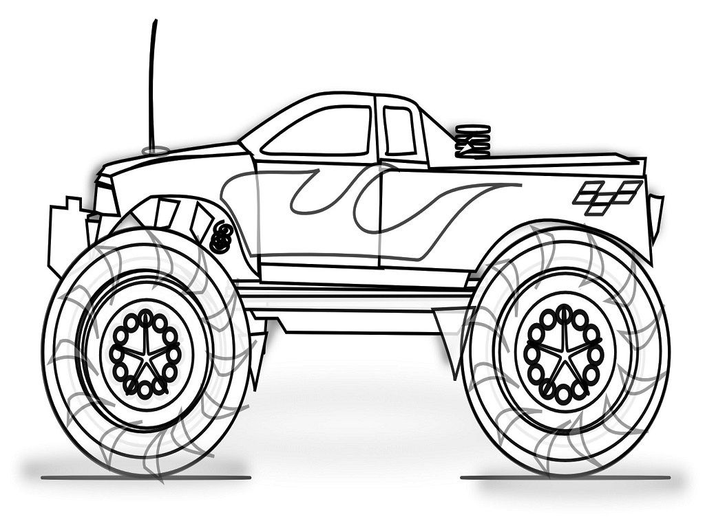 Monster Truck Coloring Book Printable
