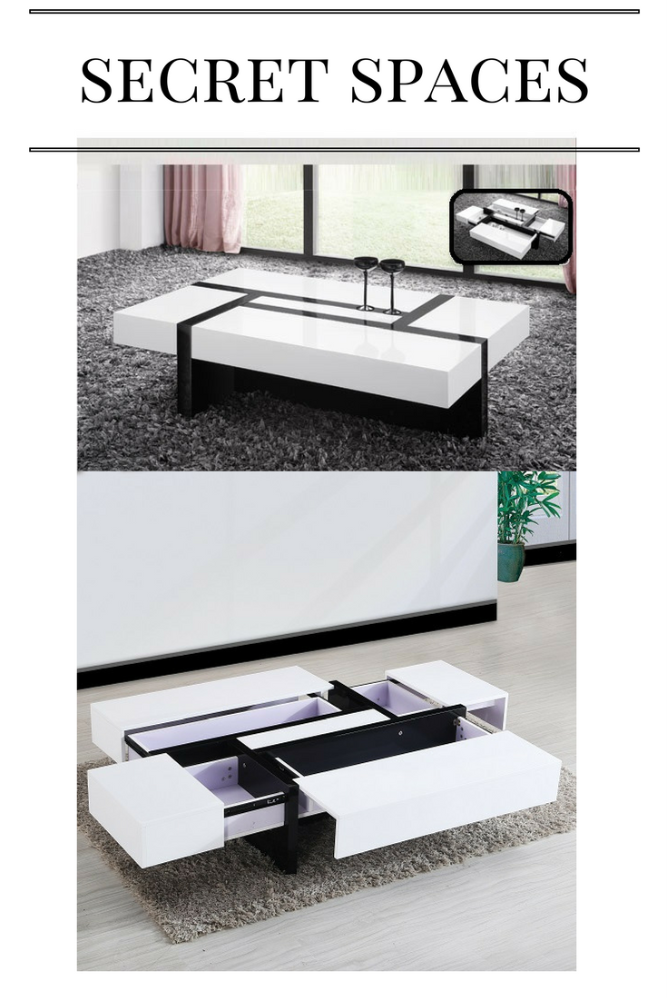 Storm Storage Coffee Table In White And Black High Gloss In 2020