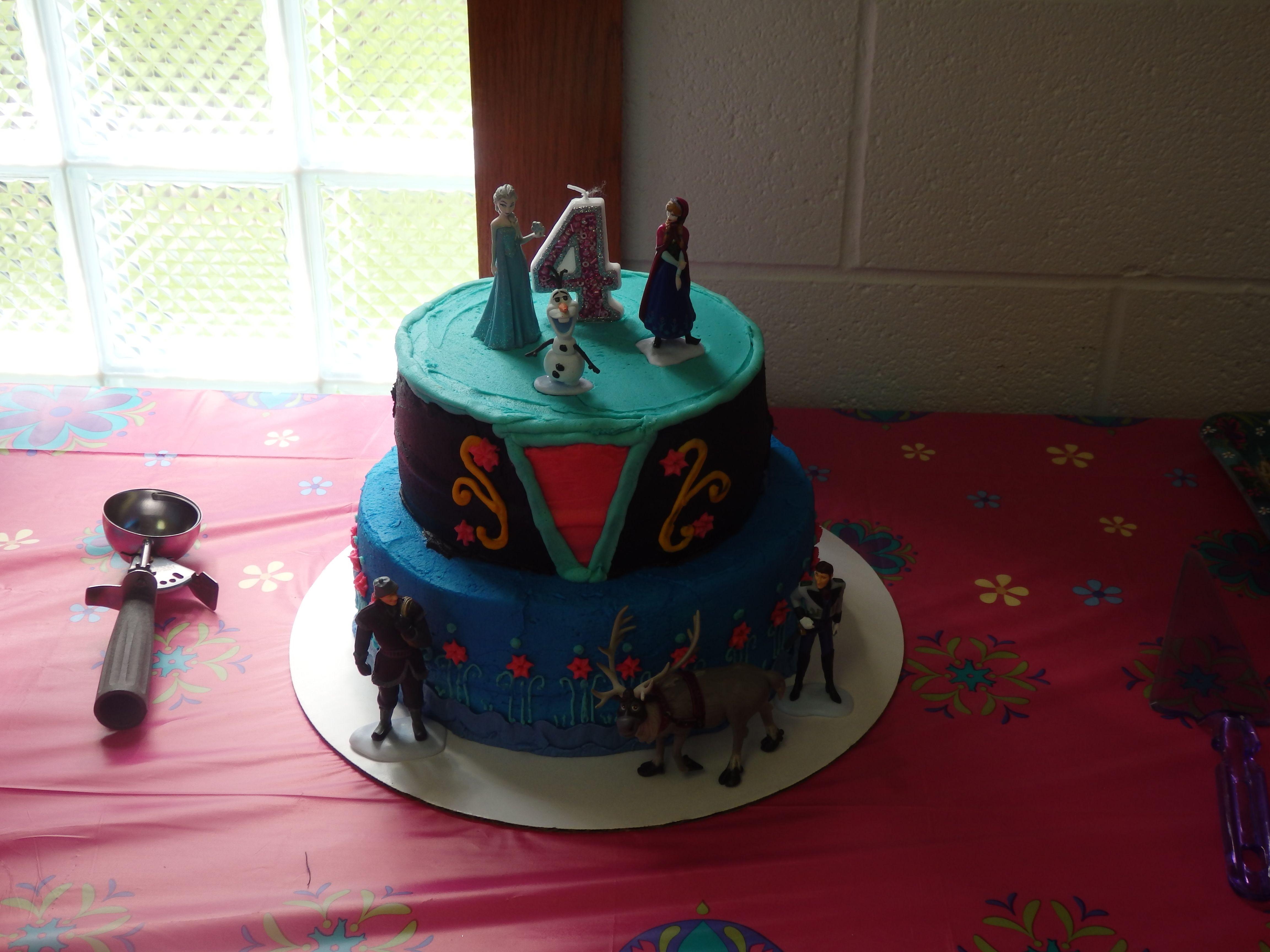 FROZEN ANNA CAKE!!!!