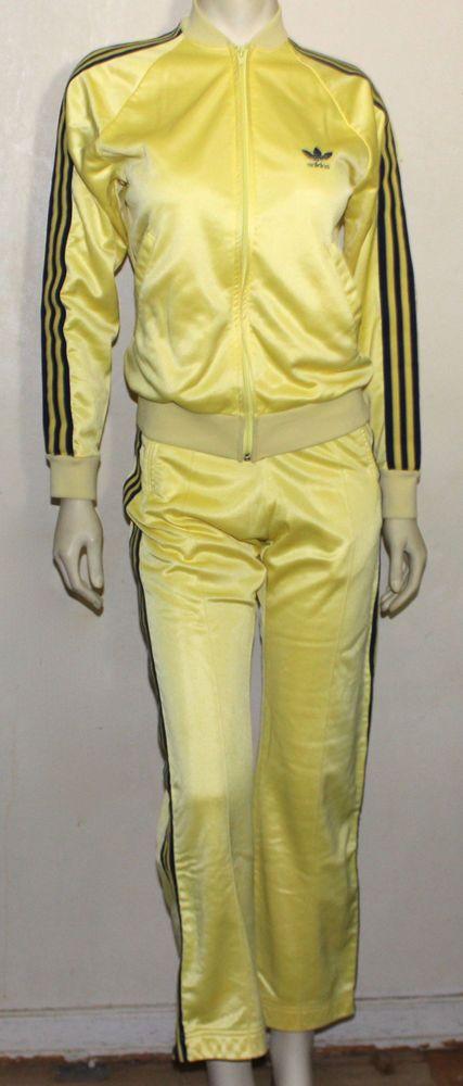 adidas yellow jogging suit