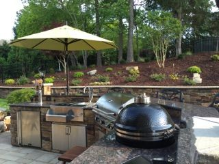 kegerator refreshment center aog grill and kamado joe smoker complete this awesome outdoor on outdoor kitchen kegerator id=81903