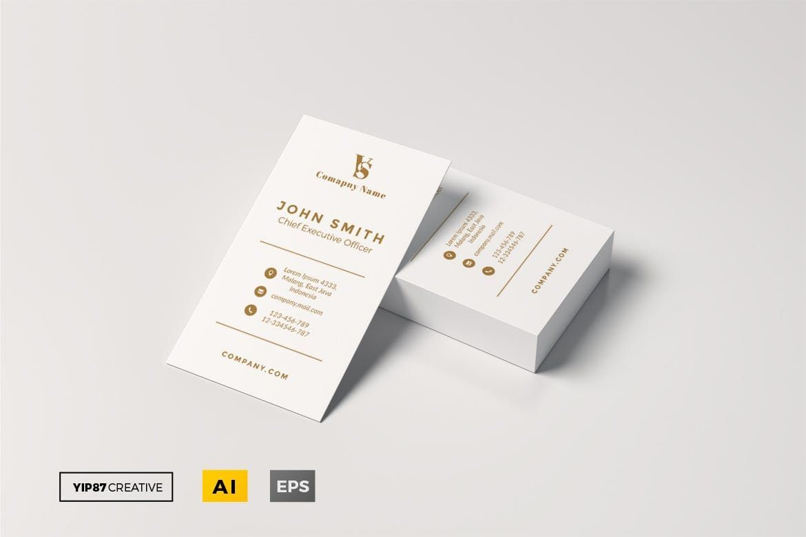 Business Card By Yip87 On Envato Elements Business Card Graphic Download Business Card Minimal Business Card