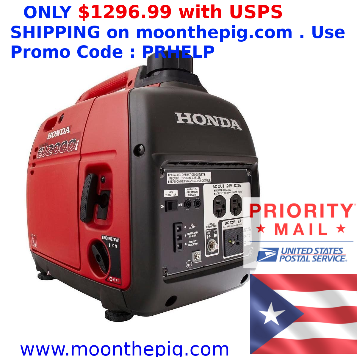 Honda Eu2000i Generator Free Shipping To Puerto Rico Fast Delivery Usps Shipping Postal The Unit