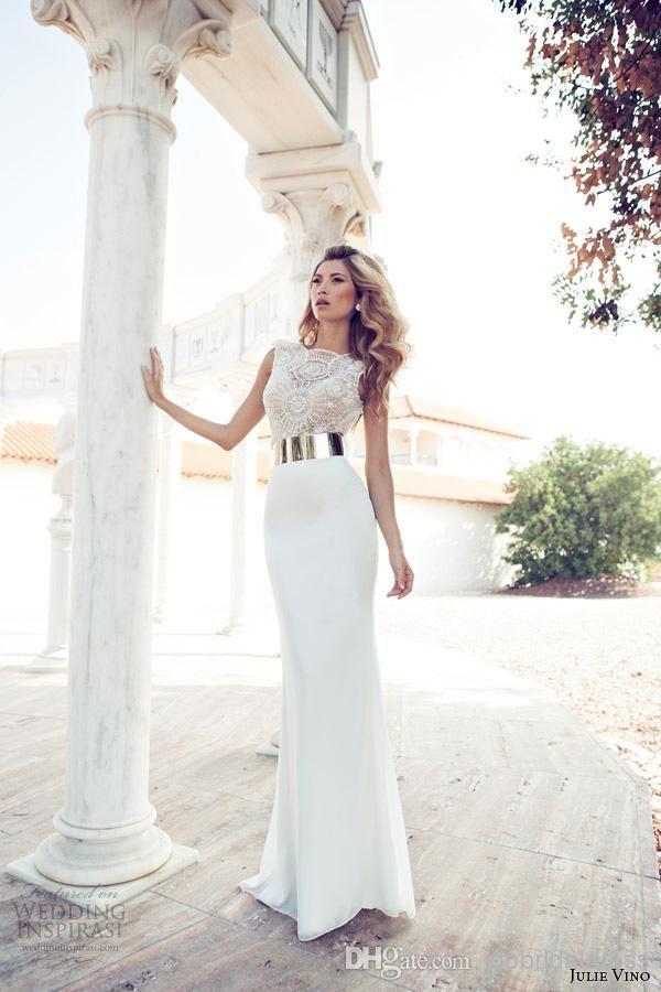mesmerizing goddess russian unique gold belt lace top handmade beads fashion 2014 wedding dress bridal dress