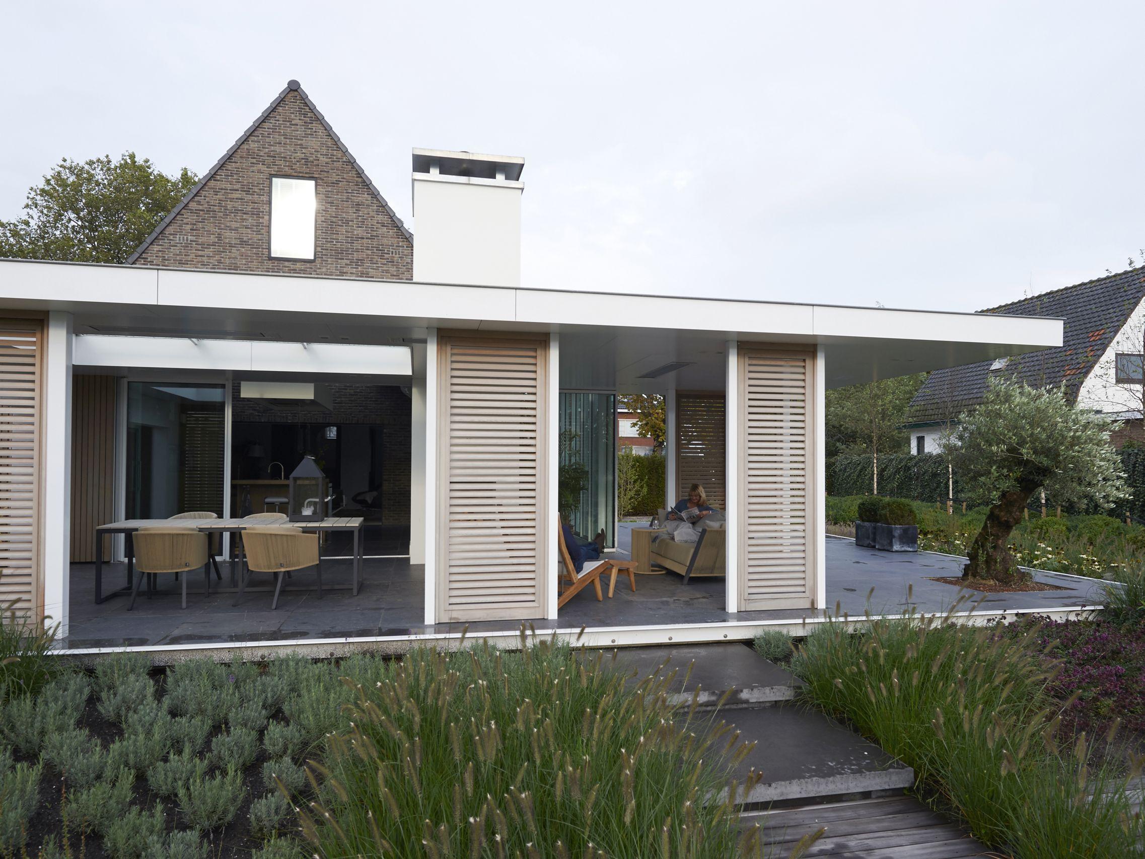 Enzo architectuur interieur voor beschutting tegen wind en
