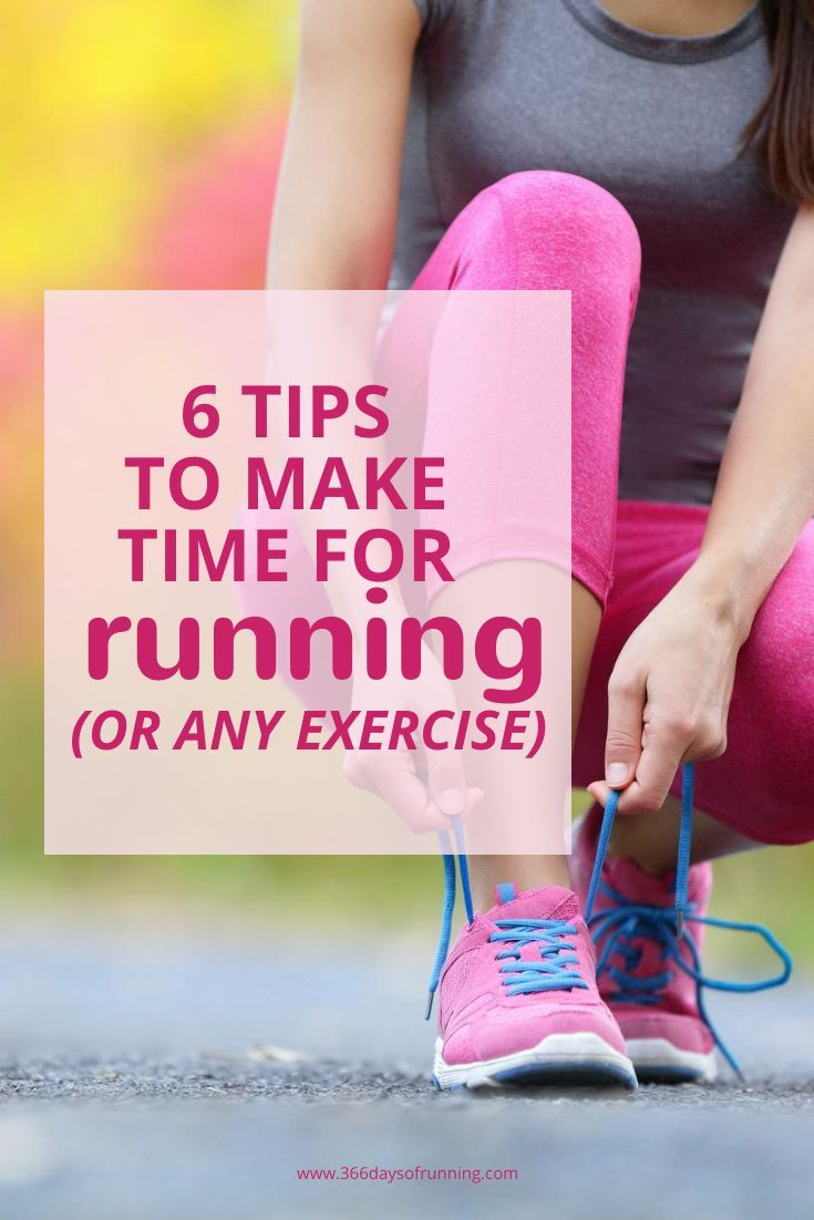 6 tips to make time for running or any exercise | Get fit and active every day with these 6 simple t...