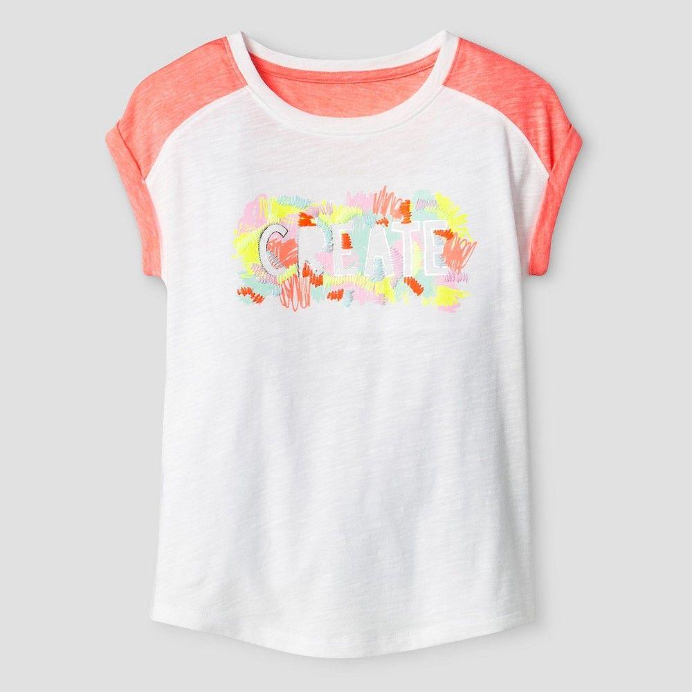 Girls Create Graphic Tee Cat & Jack Fresh White XS Girl s