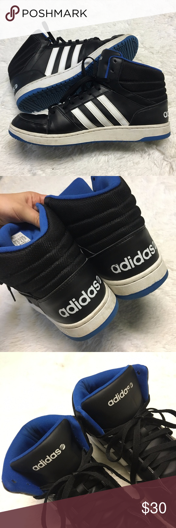 new style adidas neo high blue white 4233f 2586b
