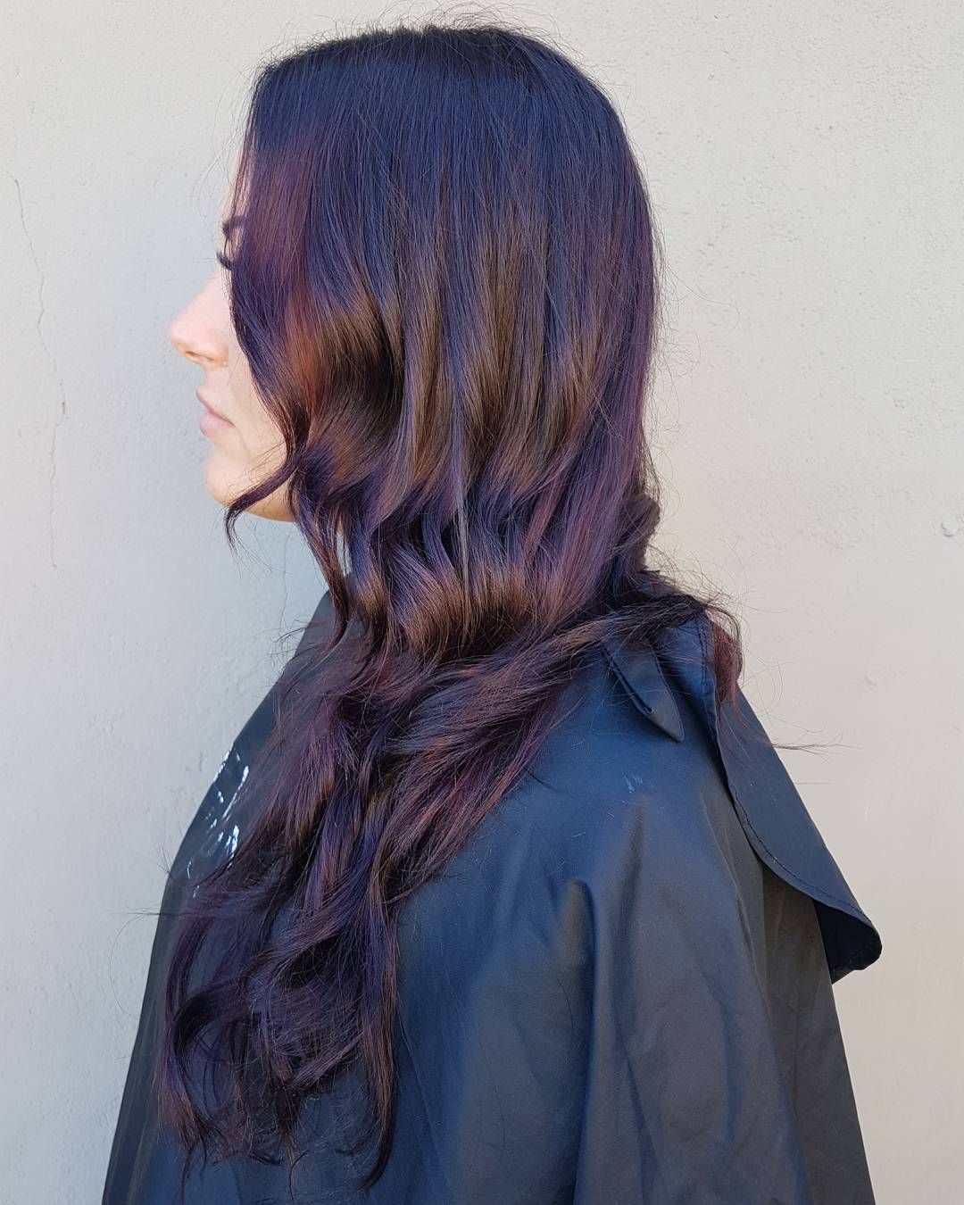 Deep brown and purple sombre lovely locks hot hair colors
