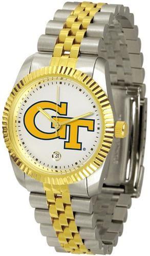 Georgia Tech GT Men's Two Tone Gold Dress Watch
