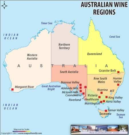 Regions Of Australia Map.Australia Wine Regions Map Wine Region Map In 2019 Wine Recipes