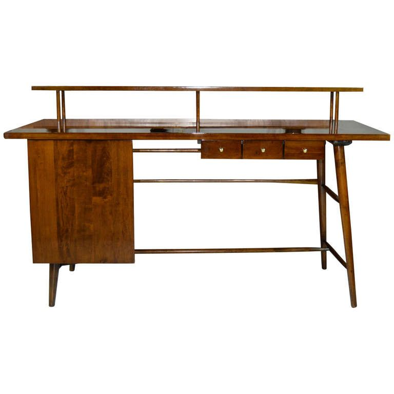 Architectural Desk By Paul Mccobb Furniture Walnut Writing Desk Top Furniture