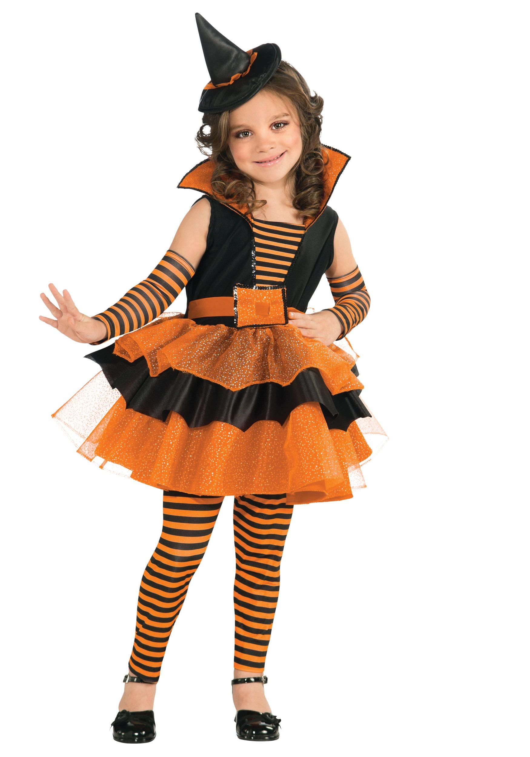Orange Cute Witch Girl Costume | Fofos | Pinterest