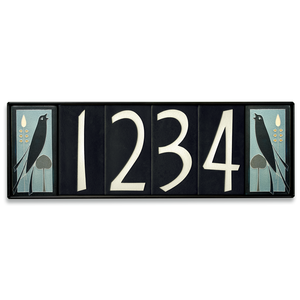 4x8 House Number Frame (Holds Six Tiles) from Motawi Tileworks ...