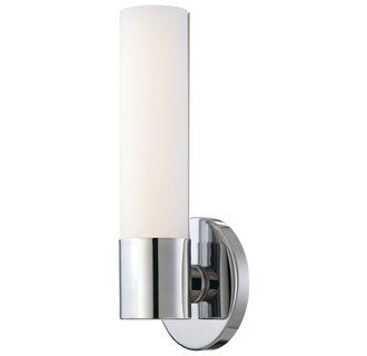 View the kovacs p5041 077 l 1 light 475 width ada compliant led george kovacs lighting modern led sconce wall light with white glass in chrome finish aloadofball Images