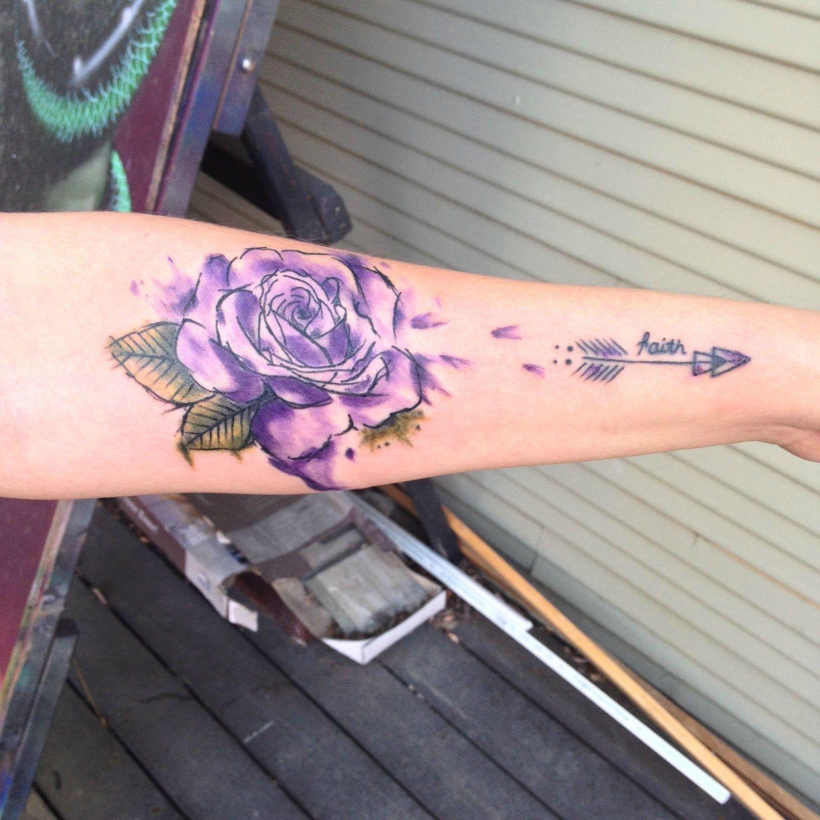 Purple Rose Tattoo | Art  - Tattoo Trends 2018