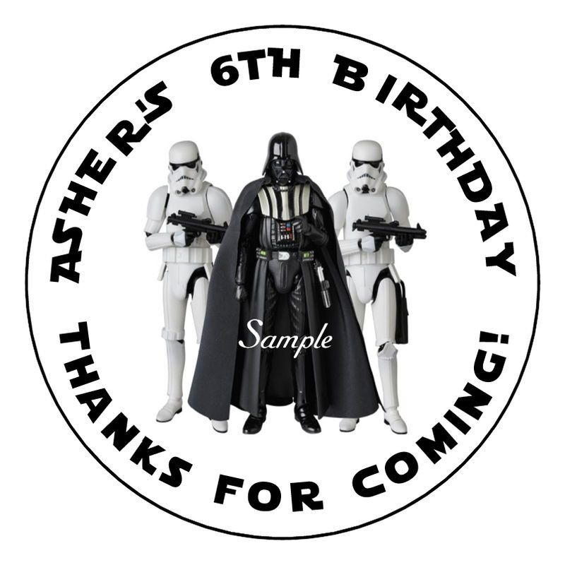 Star Wars DARTH VADER STORMTROOPERS Party Favor Stickers ...