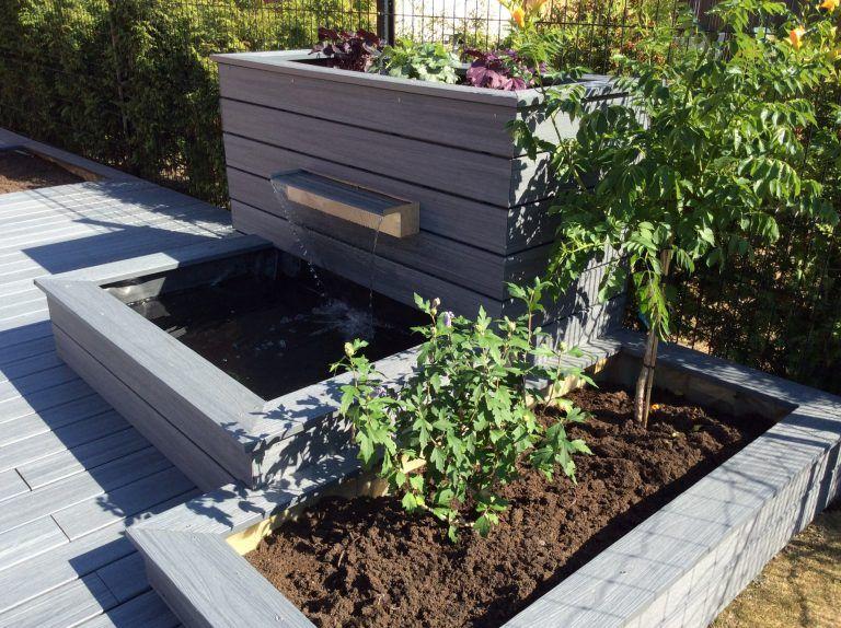 terrasse-bois-composite-05 giardino Pinterest Garden projects - terrasse bois avec bassin