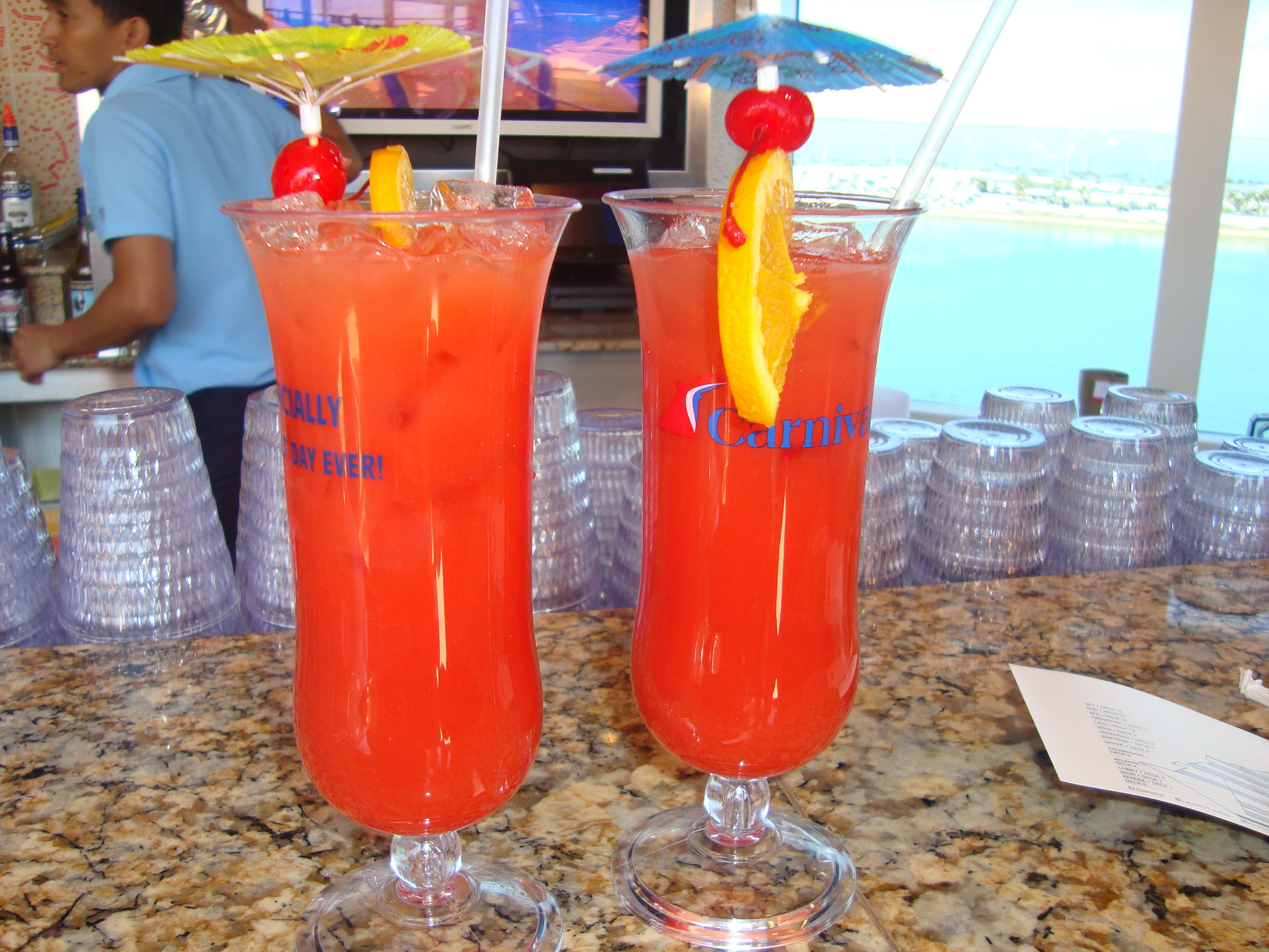 Cruise drink of the day | Yummy drinks, Drinks, Carnival glory