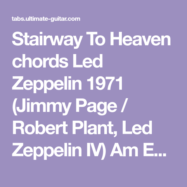 Stairway To Heaven chords Led Zeppelin 1971 (Jimmy Page / Robert ...