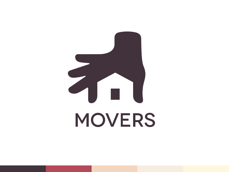 Movers logo design branding logo design logos and behance for Household design logo