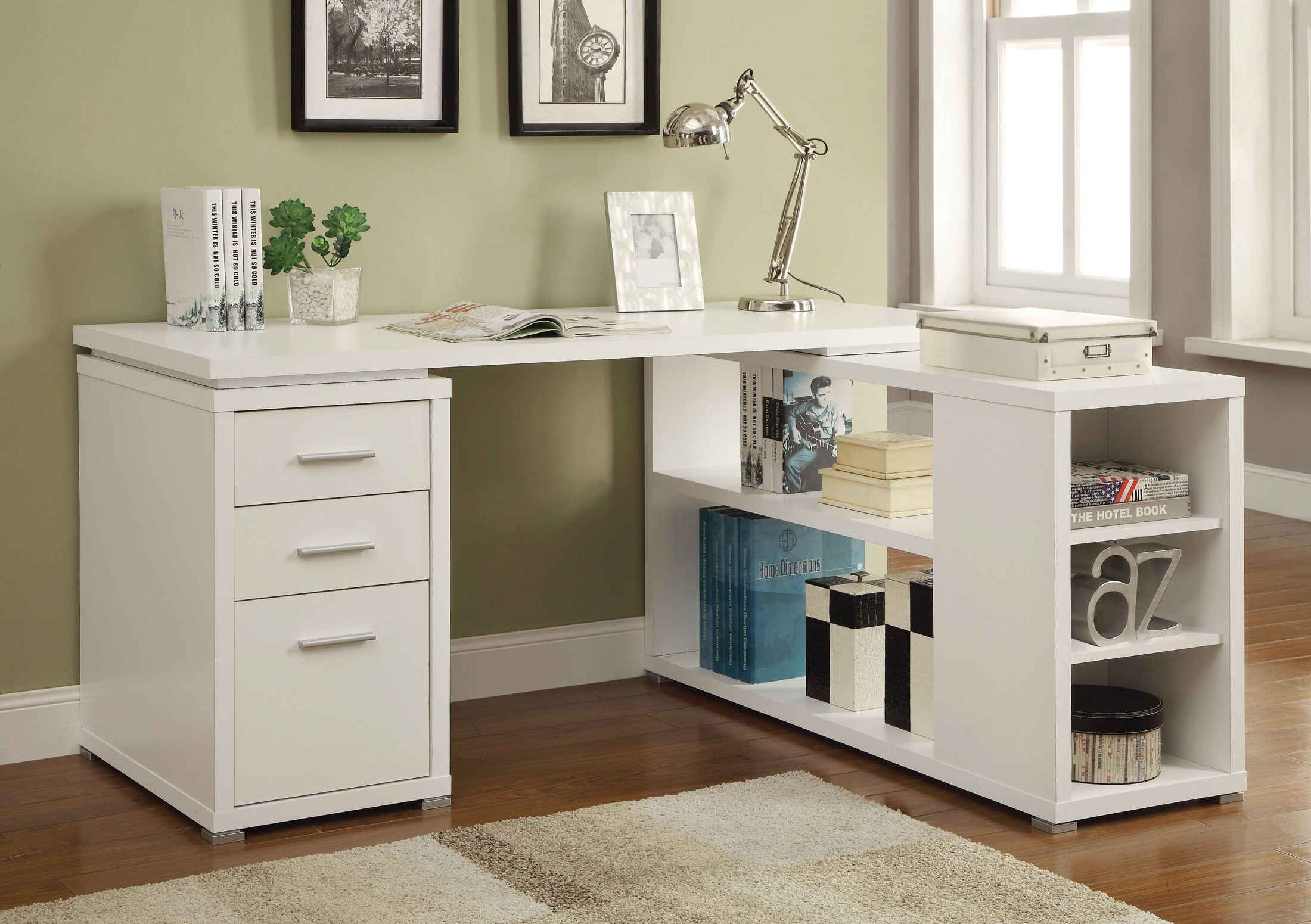 Coaster Shape Home Office Computer Desk White Desk Office Home Office Layouts Cheap Office Furniture