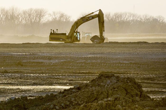 With site preparation well underway, work on a $264 million pork plant in Sioux City remains on schedule for completion in 2017, a top company official said Monday.