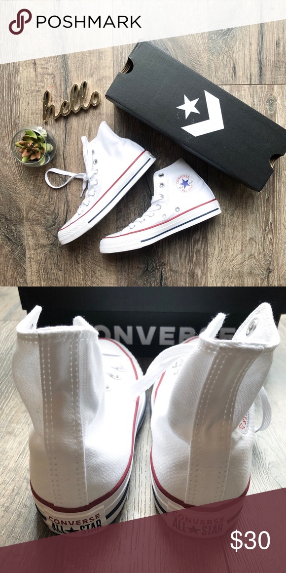 55128bee82d1 Converse All Star Hightop BRAND NEW white converse high tops ...