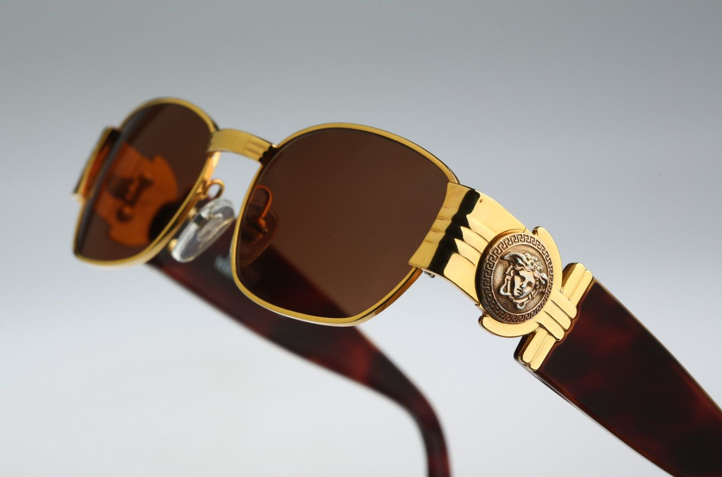 Gianni Versace Mod S73 / Vintage sunglasses / NOS / 90s and all time being luxury! by CarettaVintage on Etsy