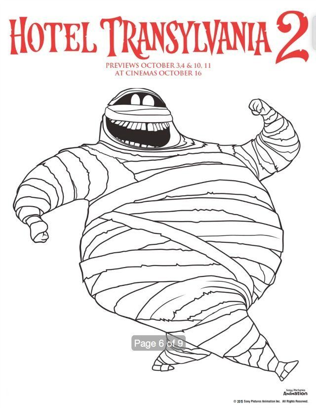 Free Hotel Transylvania Colouring Pages Book To Download