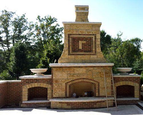 Outside Brick  and stone design