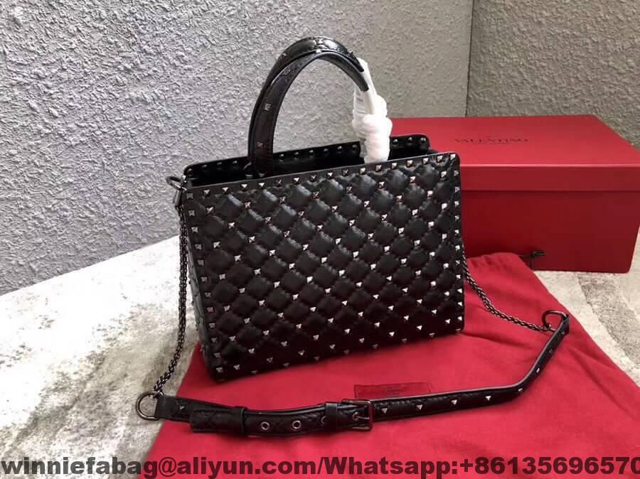 Valentino Lambskin Rockstud Spike Tote Bag 2018 Chanel