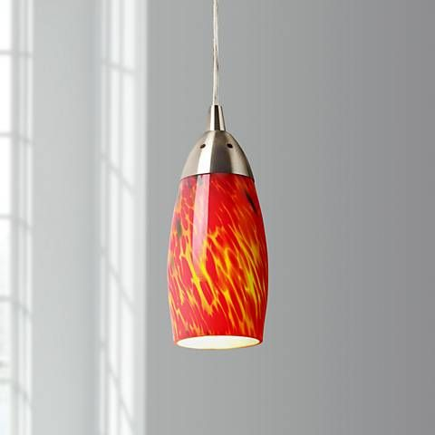 Milan collection fire red mini pendant chandelier style 27061 milan collection fire red mini pendant chandelier 27061 lamps plus aloadofball Images